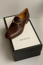 Gucci Quentin Horsebit Collapsible Men Shoes Brown SZ. US 9 EU 42.5