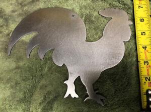 8 inch Metal art- 16 gauge steel Rooster wall sign Backyard chicken farm!