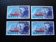 NORVEGE - timbre yvert et tellier n° 1085 x4 obl (A04) stamp norway (A)
