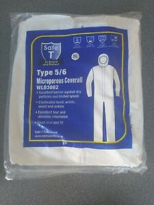 5 SAFE T DISPOSABLE COVERALL HOODED (TYPE 6 & 5) SPRAY SUIT,PAINT BODY SHOP, XXL