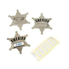 Lot of 12 Personalized Sheriff Badges Western Cowboy Party Favors