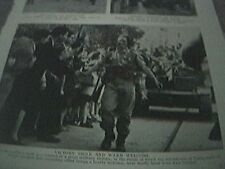 ww2 world war two magazine picture - allies in tunis tunisia