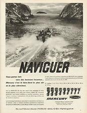 """Publicité Advertising 1966  MERCURY  moteur de bateau """" l'Hélice JET """""""