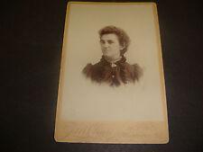 Antique Cabinet Photo,Portrait Lady,J.M. Chase,39 State St,Newburyport,MA  S1447