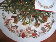 Needle Treasures Christmas Counted Cross Tree Skirt KIT,SUGAR PLUM LANE,02905