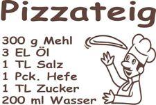 Wandtattoo-Aufkleber Pizzateig-Rezept fuer Deko, Küche