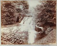 La Cascade Del Parco di Ermenonville Circa Parigi, Vintage Aristotipia, Ca 1900