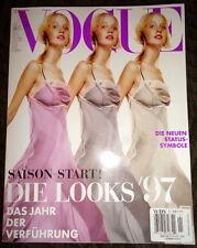 Vogue Deutsch 1/1997 Naomi Campbell Milla Jovovich Kate Moss Diane Kruger Evita