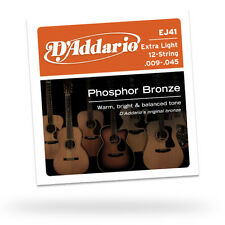 5 PackD'Addario EJ41 Extra Light 12 String Acoustic Guitar Strings Free US Ship