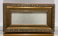 "Aesthetic Art Nouveau Design Wood Picture Frame Fits 4""x10"" Gold"