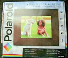 "NEW Polaroid 8"" Digital Picture Frame Candlenut Distressed Wood PDF-800CD"