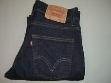 Mens LEVI'S STRAUSS & CO. 511 Dark Blue Slim Fit Stretch Denim Jeans W32 L32