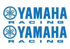 2 YAMAHA RACING VINYL DECALS - 2 stickers 280 x 76mm YAMAHA DECALS - 18 COLOURS