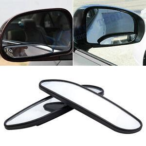 2pcs Auxiliary Rear Wide View Blind Spot Mirror Convex Strip Shape Bar Car SUV