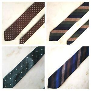 Bespoke Handmade Made To Order Wool Tie Italian Fabric Sevenfold