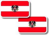Vinyl sticker/decal Small 70mm Austria flags - pair