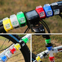 KQ_ Silicone Bicycle Bike Cycle Safety LED  Front Rear Tail Light Lamps New