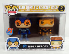 Funko POP! Previews Exclusive Blue Beetle and Booster Gold 2 Pack MIB