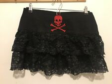 Goth Lace Red Black Pirate Skirt