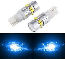 LED Light 50W 194 Blue 10000K Two Bulbs Front Side Marker Parking Stock OE Show