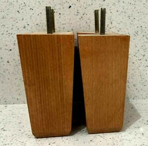 """4x Replacement Wooden Furniture Feet Legs For Sofa, Chairs, Stools """"Teak Gloss"""""""