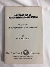 Evaluation of the New International Version NIV Foy E Wallace Church of Church