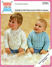 """Lister 1274 Vintage Baby Knitting Pattern Sweaters DK 18-22"""" 6 - 24 months"""
