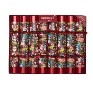 Robin Reed H0 Noël Vacances 8pc 10in A Thème Crackers - Santa 'S Toyshop