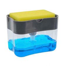Us 2in1 Soap Pump Dispenser & Sponge Holder Dish Soap Storage Dispensers Kitchen
