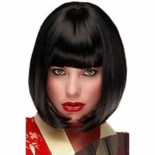 100% Real Hair! Trendy Bob Haircut Short Capless Straight Natural Black Wig