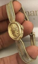 OMEGA Vintage Ladies Watch 14KT Solid Gold ~ RUNS GREAT!!! FULLY SERVICED!!!