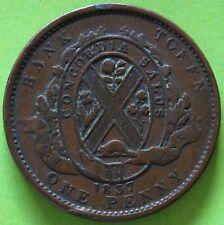 BAS CANADA ONE PENNY 1837