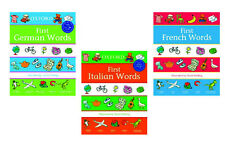 Oxford's First Words Set of 3: First German Words, Italian Words & French Words