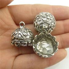 18446 5PC Vintage 18mm Tassel Beads End Cap Filigree Dome Connector Leaf Pendant