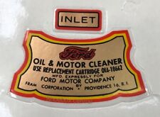 1949 1950 1951 FORD Oil Filter Housing Decal