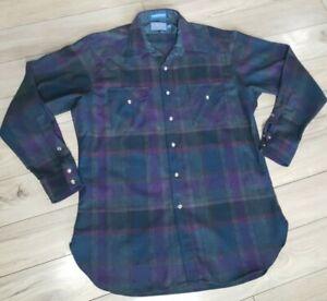 PENDLETON High Grade Western Wear Wool Pearl Snap Shirt Men's sz L long