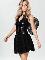 Dark Fallen Angel Ann Summers Black with Wings Halloween Fancy Dress Costume RRP