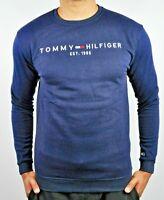 TOMMY HILFIGER Jeans Men's Crew Neck Jumper Sweatshirt For Men - Slim Fit