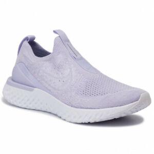 Nike Epic Phantom React Flyknit Running Shoes Size UK 8.5 EU 43 Lavender Mist