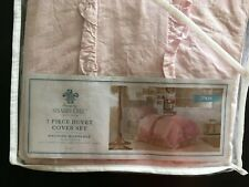 New Simply Shabby Chic Pink Ruffle Twin 2-Piece Duvet Cover Set 100% Cotton