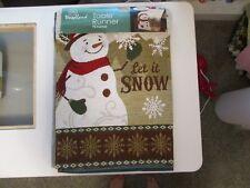 """Winter Wonder Lane - Snowman -  72"""" Tapestry Table Runner"""