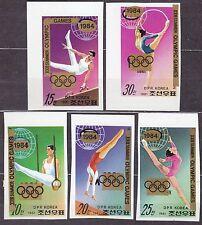"KOREA Pn. 1983 MNH** SC#2270/74 set, Ovpt. ""XXIII Summer Olympic Games 1984"" Imp"