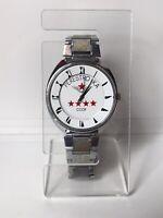 Raketa Wrist Watch Russian Mans Vintage Quartz Ussr Soviet Perestroika Good Work