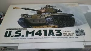 Henglong 1/16 us m41a3 RC tank used