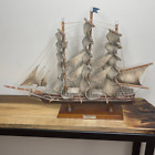 Vintage Flying Cloud 1851 Clipper 15' Tall ship Wooden model 15 x 20