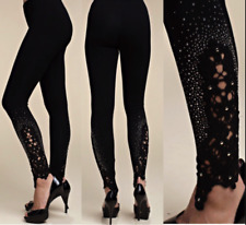 new VOCAL EMBELLISHED LEGGINGS sexy slimming BLACK SM-4X pants crystals skinny