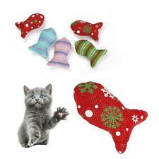 1pcs Cat Toys Christmas Mouse Catnip Pets Kitten Teaser Interactive 2019 Su B2E5