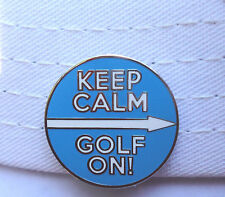 Keep Calm Golf On! Golf Ball Marker W/Bonus Magnetic Hat Clip