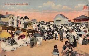 1913 At the Beach Watch Hill RI post card
