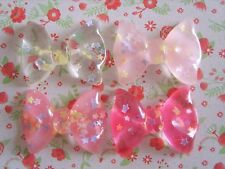 4 x Fiocchi misti Flatback Resina Abbellimento artigianato Capelli Fiocchi Panna UK